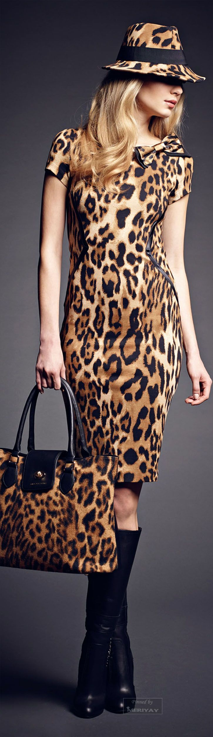 Trendy Animal Print Dress - Rachele Collections Fall 2015
