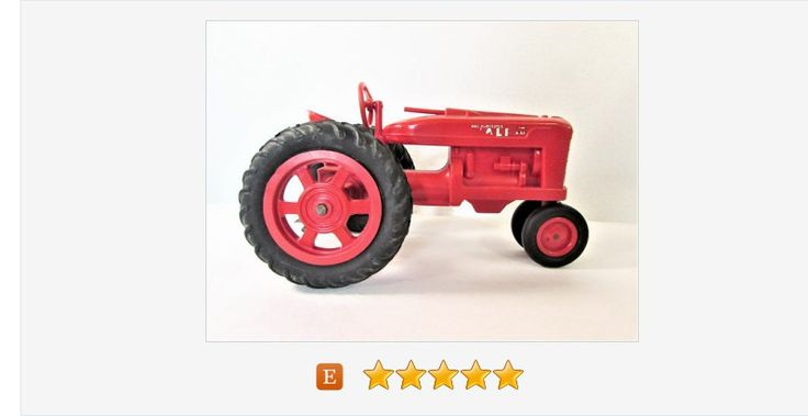 Red #Farmall #Tractor Plastic Product Miniatures #Vintage #Farm #Toy #gotvintage #etsy
