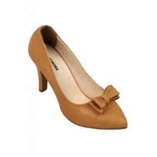 Jual sepatu wanita murah dan berkualitas: CLAYMORE Sepatu High Heels BB-702 Cream