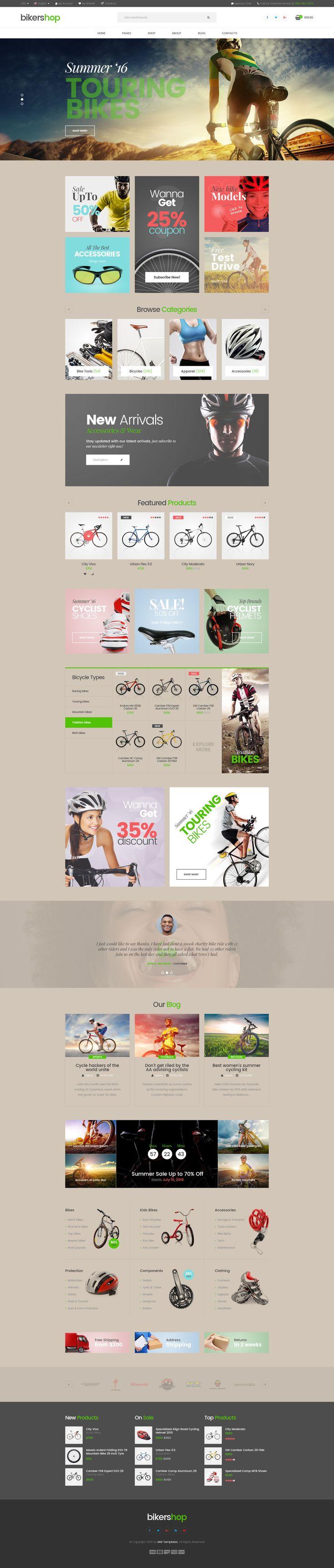 Biker Shop is a simple and functional PSD template | Download: https://themeforest.net/item/biker-shop-premium-psd-template/16757338?ref=sinzo