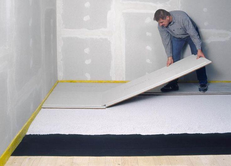 plaque de sol fermacell 30 mm avec fibre de bois