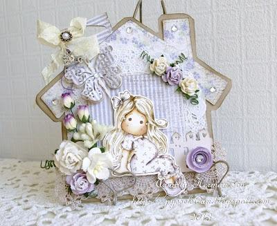 Camillas Magnolia Kort: MDUC # 199 Bling it Baby ♥