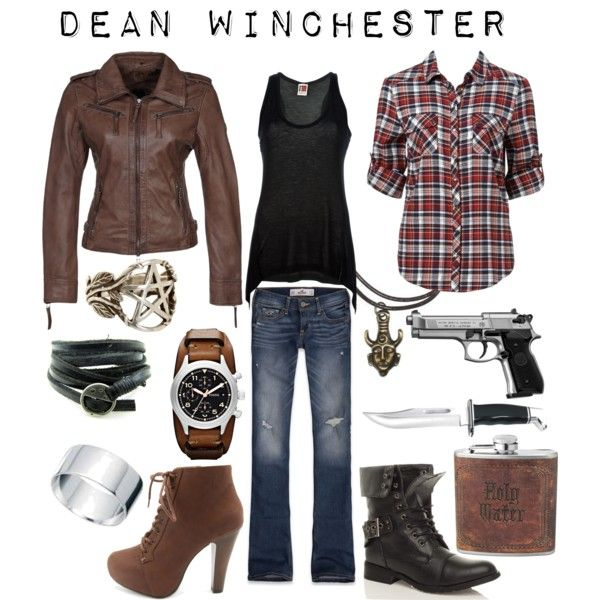 Dean Winchester - Supernatural inspired outfit by shadowsintime on Polyvore  Love it all, except I probably wouldn't wear those heels. I'd wear those combat boots though :D