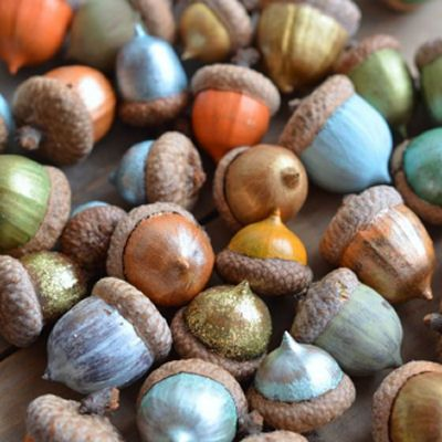 "Foto ""pinnata"" dalla nostra lettrice Anna Springolo How to Paint Acorns"