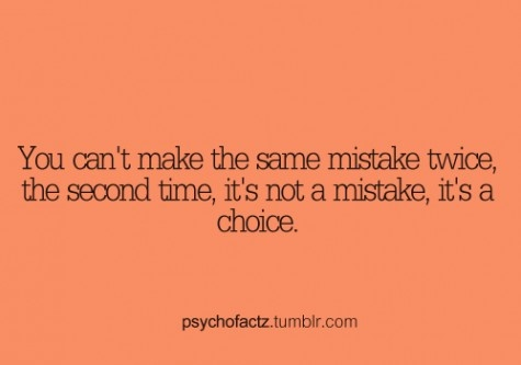mistake or choice :)