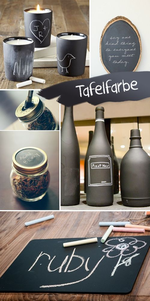 Gingered Things - DIY, Deko & Wohndesign: Tafelfarbe geht immer