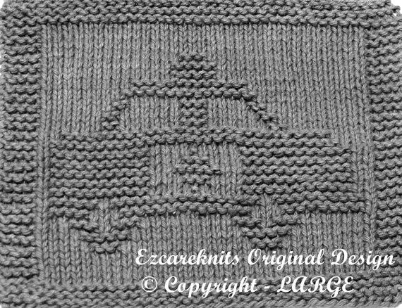 Knitting Cloth Pattern  POLICE CAR  Instant by ezcareknits on Etsy, $3.00