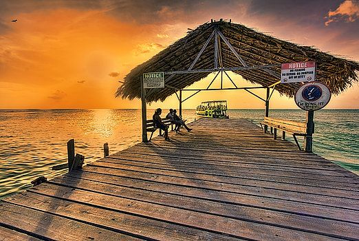 Sunset in Paradise, Pigeon Point, Tobago