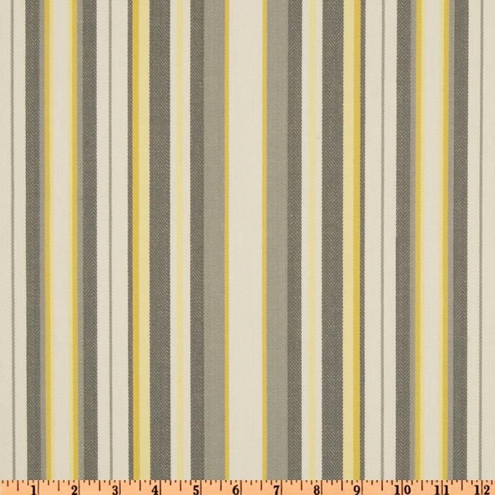 Grey And Yellow Striped Curtain Fabric Curtain