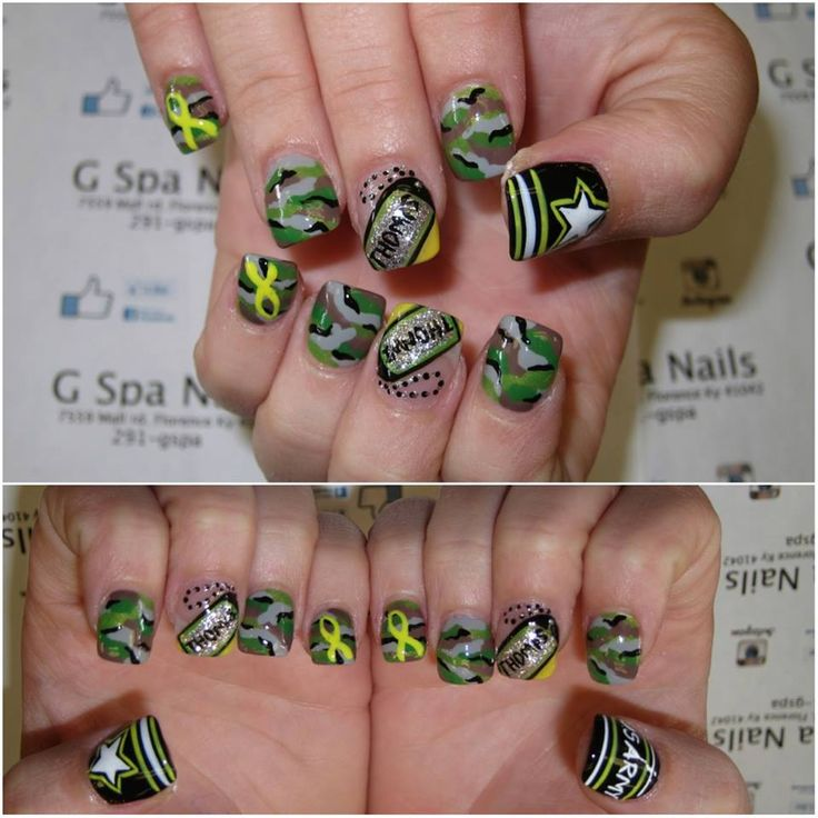 Army Nails designs