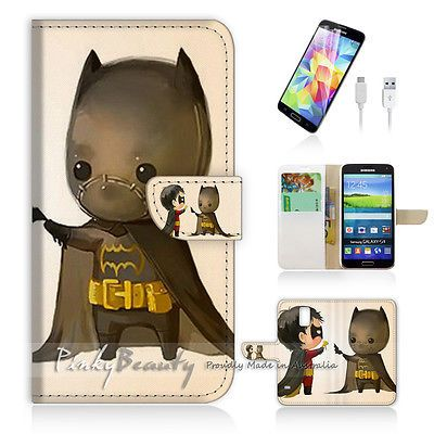 Details about ( For Samsung S5 ) Wallet Case Cover! Cute Batman and Robin  P0031