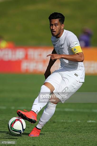 Bill Tuiloma of New Zealand looks to pass during the FIFA U20 World Cup New Zealand 2015 Group A match between New Zealand and Ukraine on May 30 2015...