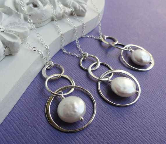 Pearl jewelry for bridesmaids