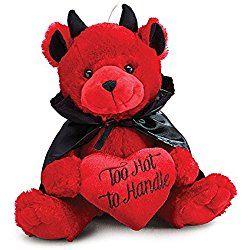 "Burton and Burton Too Hot to Handle Valentine Devil Bear, Red, 11"""