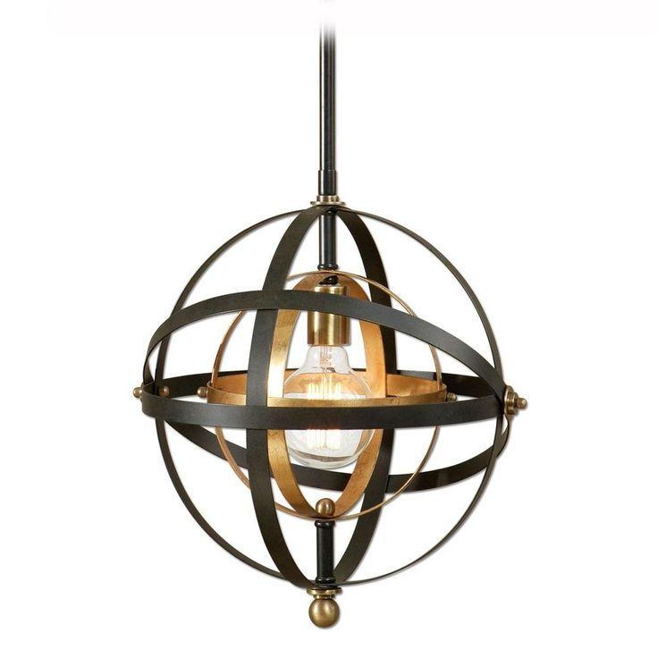Uttermost Lighting Uttermost Rondure 1 Light Sphere Pendant 22039