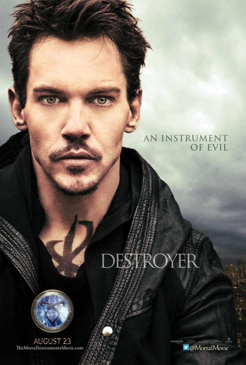 Jonathan Rhys-Meyers lets us look deep into his eyes in his character poster for The Mortal Instruments: City of Bones