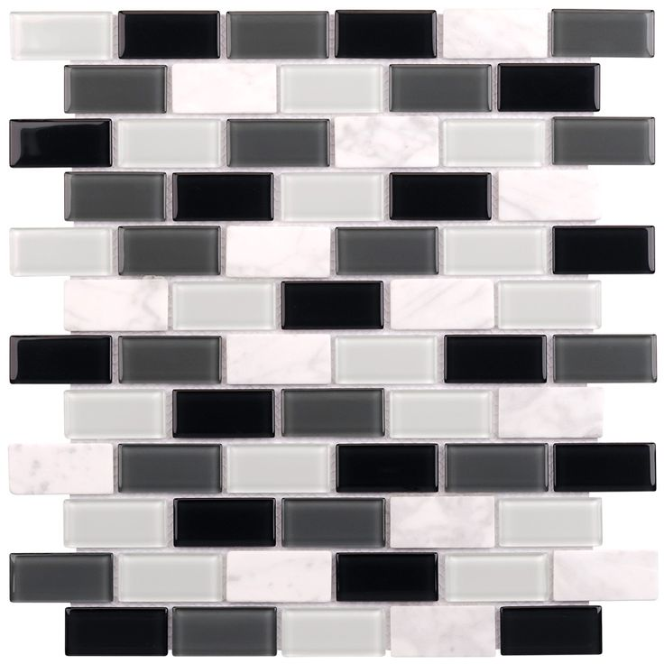 Glass Stone Mosaic Tile Carrara