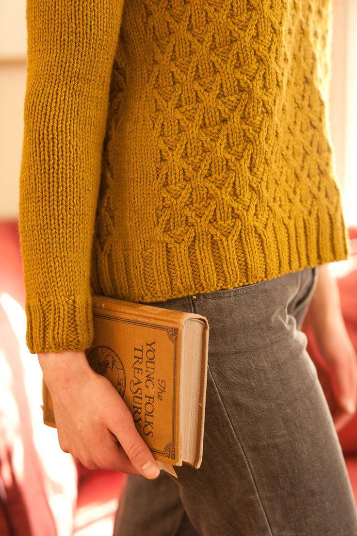 Wickerwork sweater pattern by Michele Wang