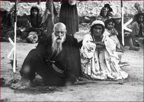 A Gypsy couple at the Belzec concentration camp. Many Romani were put to death in concentration camps during WWII. It is difficult to say how many due to them living a nomadic life and unable to count them.