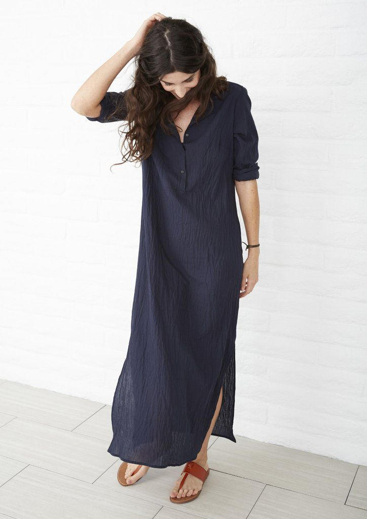 Eco Friendly Tunic, Ethically Sourced, Locally Made, Navy Cotton Tunic
