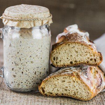 Making your own sourdough starter is as simple as combining water and flour and waiting for the naturally occurring yeast in the air to collect. Sourdough starter made with wild yeast results in flavorful loaves, and it's easy to make and maintain… Sourdough Recipes, Sourdough Bread, Bread Recipes, Baking Recipes, Types Of Flour, Bread Baking, Bakery, Tasty, Gluten
