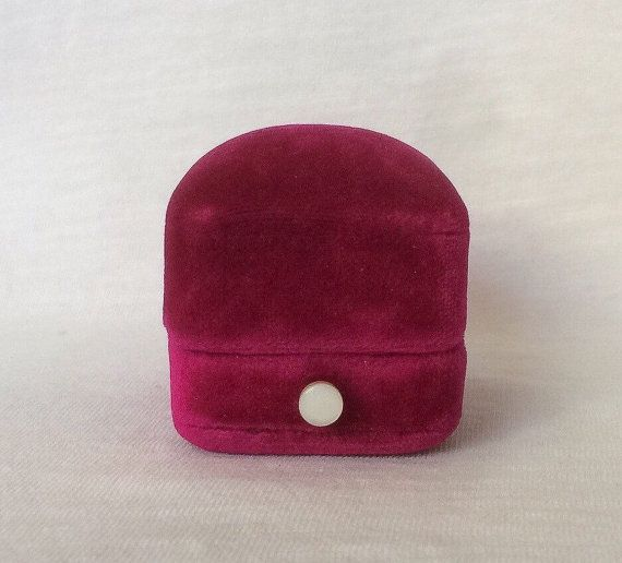 Hot Pink Velvet Ring Box Art Deco jewelry Wedding by LucyLucy9  on etsy $85