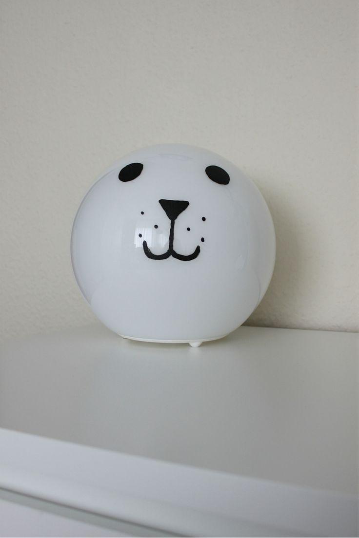 Cute DIY Ikea Hack Fado Lampe mit Hundegesicht Kinderzimmer