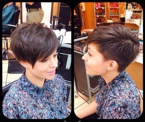 2015 Short Pixie Haircut with Bangs