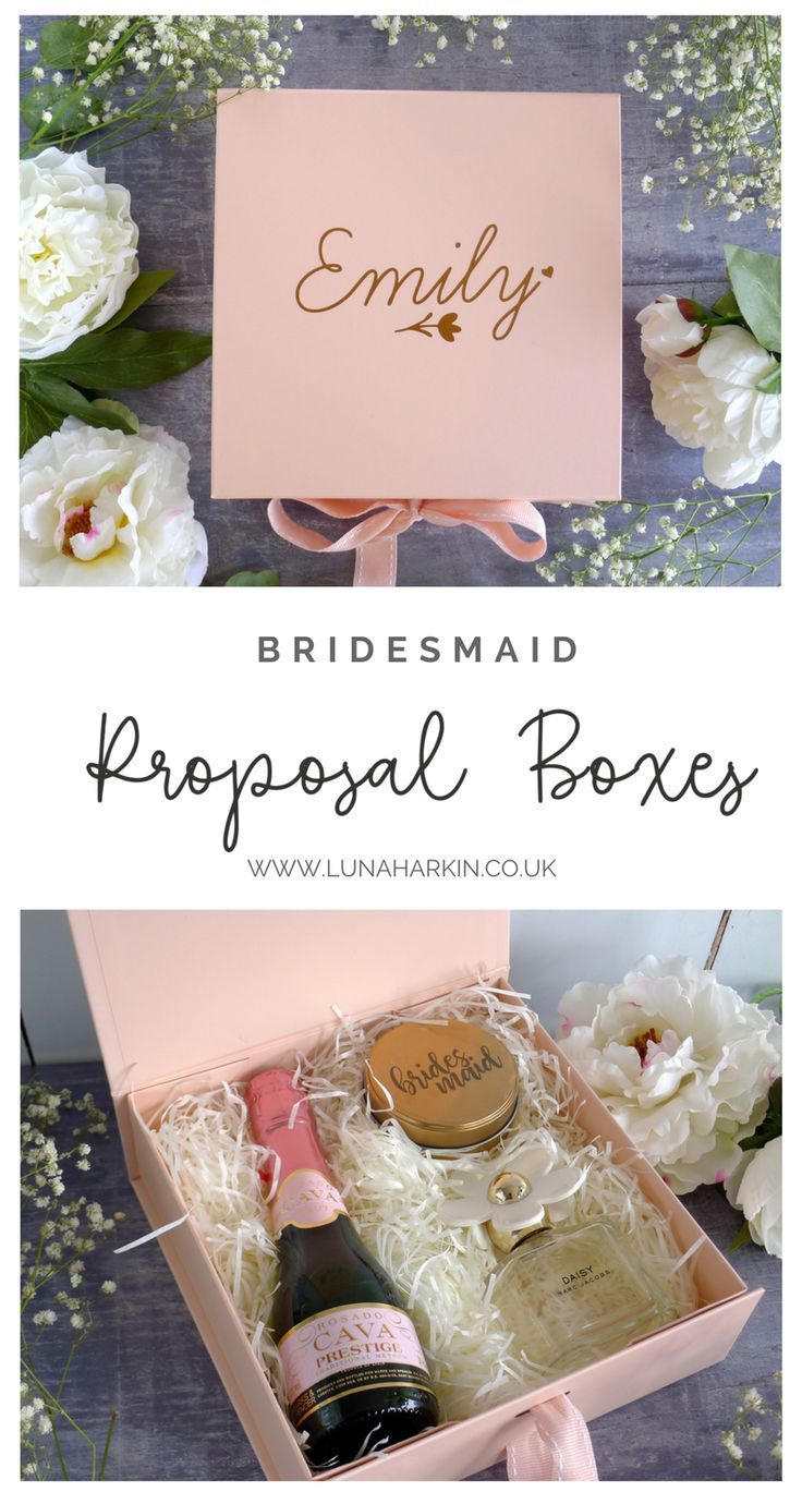 Pink Flower Girl Gift Box Personalised Bridesmaid Gift Box In 2019