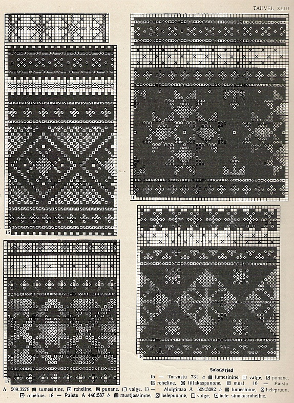 Estonian sock patterns