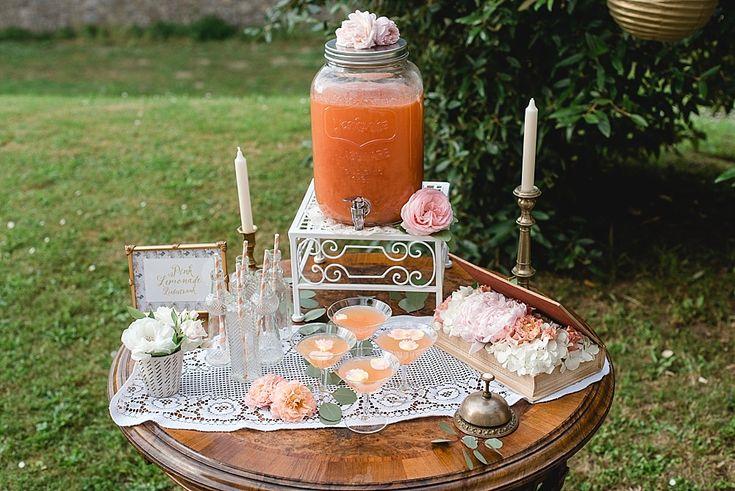 Limonaden-Bar zur Hochzeit