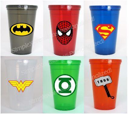 Super Hero Personalized Kids Tumbler Cup I M Thinkin