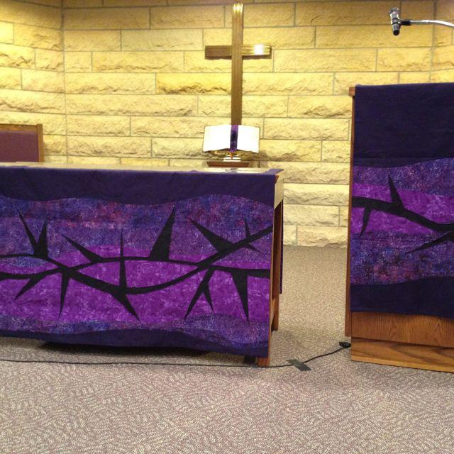 187 best images about lent on pinterest altar for Altar wall decoration