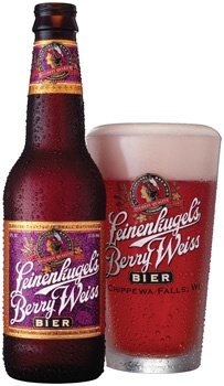 Leinenkugel's Berry Weiss--this pic is the old label, and I have plenty of those!  This was my gateway beer.  Don't judge me.