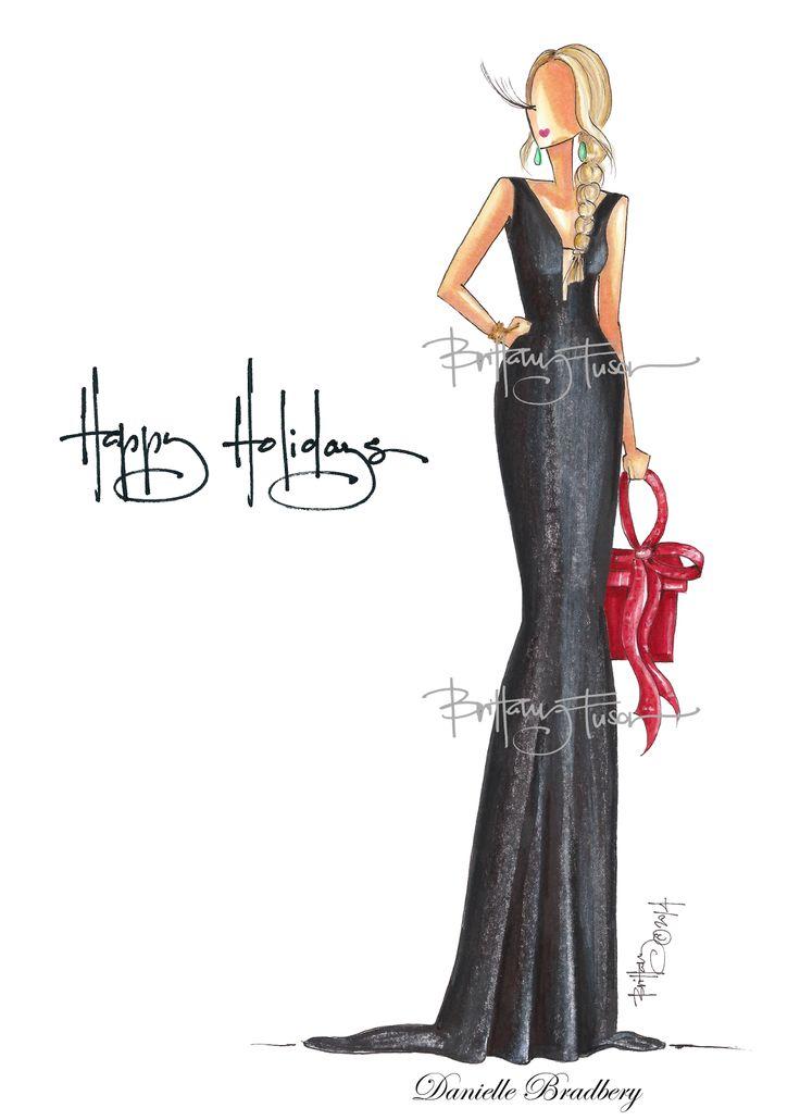 Brittany Fuson: Custom Christmas Cards // Danielle Bradbery www.brittanyfuson.com