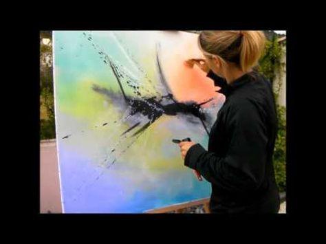 Comment faire une peinture abstraite acrylique demonstration vidéo hd youtube youtube