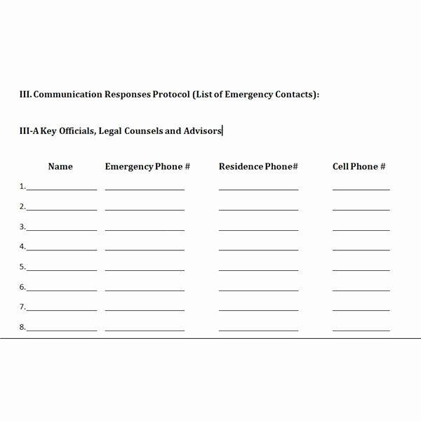 40 Crisis Communication Plan Template Communication Plan