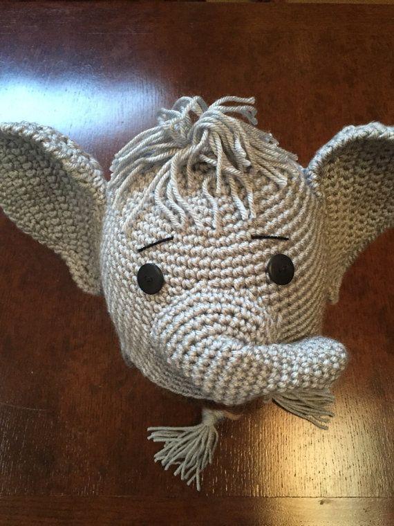 Elephant Hat Crochet Elephant Hat Grey/Grey by thebluemagnolia
