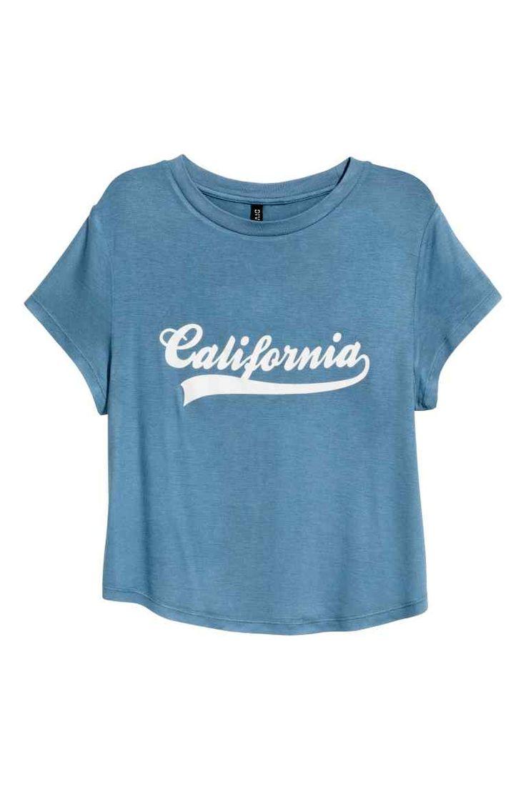 Camiseta con estampado - Azul paloma 9,99 EUR | H&M