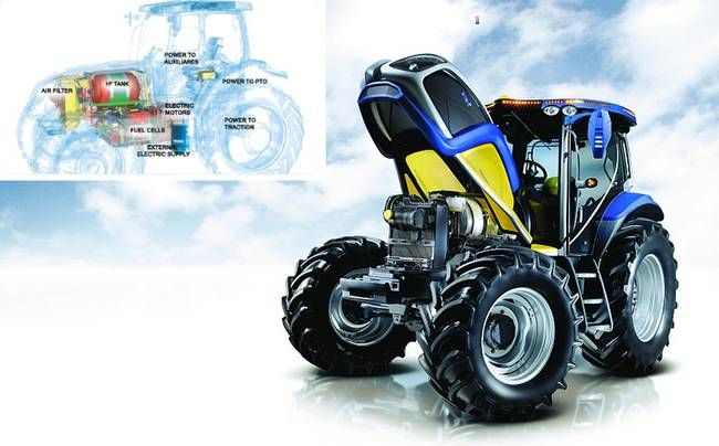 NH2: New Holland Unveils a 'Farm Ready' Hydrogen Fuel Cell Tractor : TreeHugger