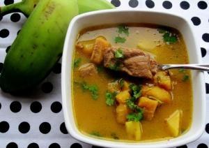 """Panamanian Dish: """"Sancocho"""" (chicken and yams soup)"""