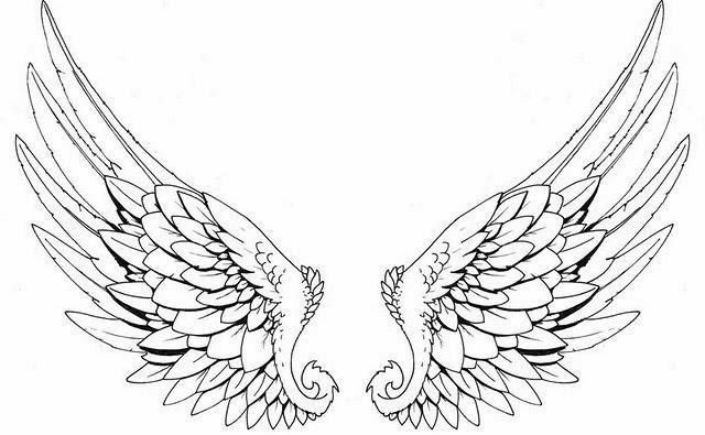 Black Outline Angel Wings Tattoo Stencil Angel Wings Tattoo Stencil Wings Tattoo Angel Wings Tattoo