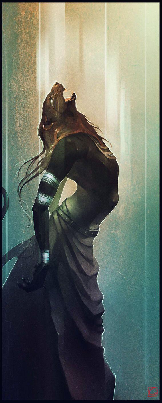 "Rakshas by Gaudi Buendia. ""A Rakshasa (Sanskrit: rākṣasa) is a demonic being from Hindu mythology. As mythology made its way into other religions, the rakshasa was later incorporated into Buddhism. Rakshasas are also called maneaters (Nri-chakshas, Kravyads). A female rakshasa is known as a Rakshasi."""