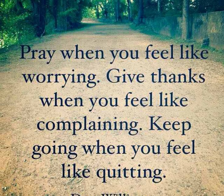 Pray and give thanks!