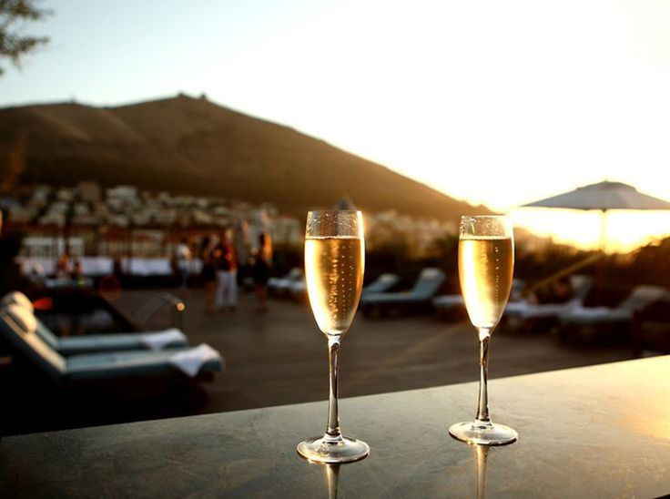 The perfect way to end any day - with a glass of sparkling wine and a fantastic view!
