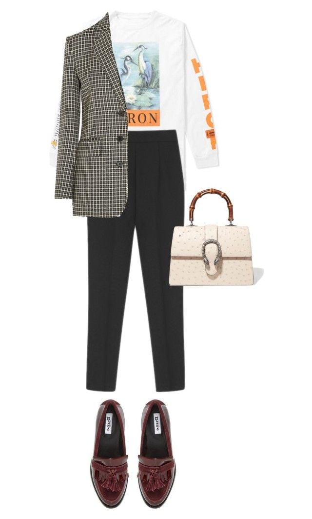 """Untitled #648"" by szudi on Polyvore featuring Heron Preston, Helmut Lang and Gucci"