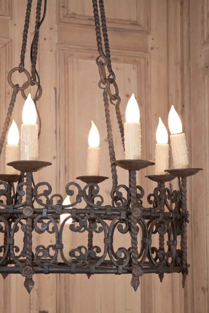 Vintage Country French Wrought Iron Chandelier - Vintage Wrought Iron Chandeliers Ideas