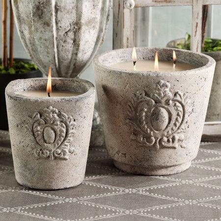 La Belle Maison, Cement Candle Pots ჱ ܓ ჱ ᴀ ρᴇᴀcᴇғυʟ ρᴀʀᴀᴅısᴇ ჱ ܓ ჱ ✿⊱╮ ♡ ❊ ** Buona giornata ** ❊ ~ ❤✿❤ ♫ ♥ X ღɱɧღ ❤ ~ Fr 06th Feb 2015