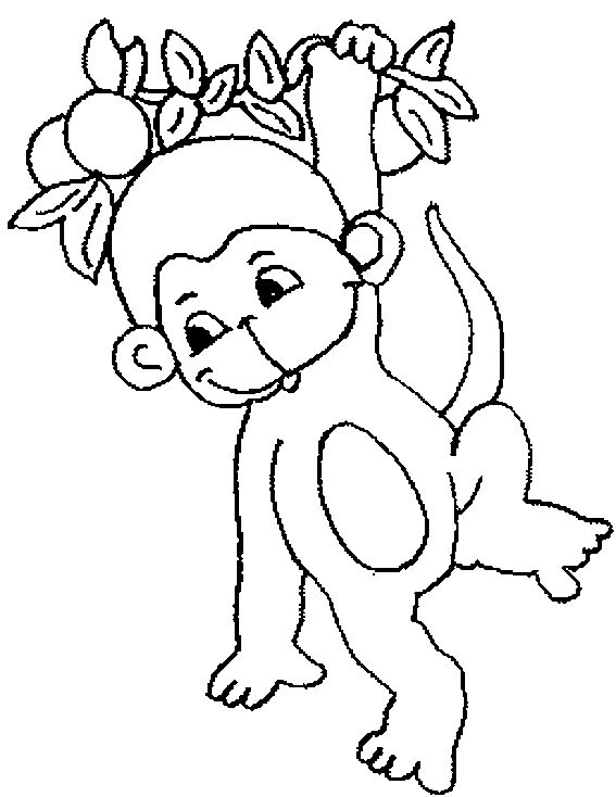 Printable Monkey Coloring Pages For Toddlers