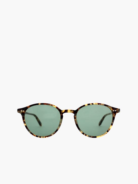 Garrett Leight Pacific in Cheetah Tortoise/Green